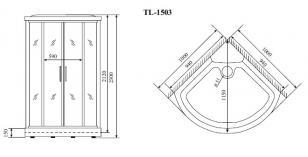 Душевая кабина Timo TL-1503 (1020*1020*2300)_1