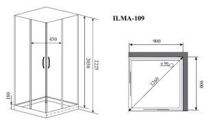 Душевая кабина Timo ILMA 109 (900*900*2225)_1