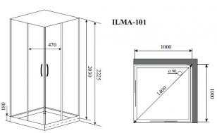 Душевая кабина Timo ILMA 101 (1000*1000*2225)_1