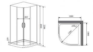 Душевая кабина Timo IMPI H-517 (100*100*200)_1