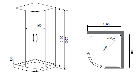 Душевая кабина Timo IMPI H-517 (100*100*200)