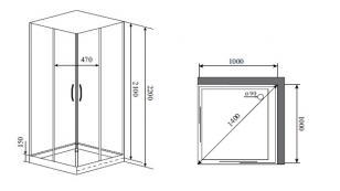 Душевая кабина Timo NURA H-516 (100*100*200)_1