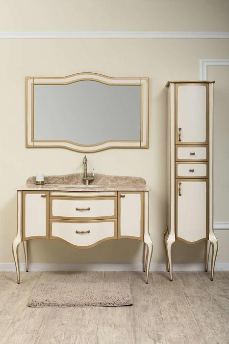 Timo зеркало Elsa 120 M     9001/gold (слоновая кость с золотом)