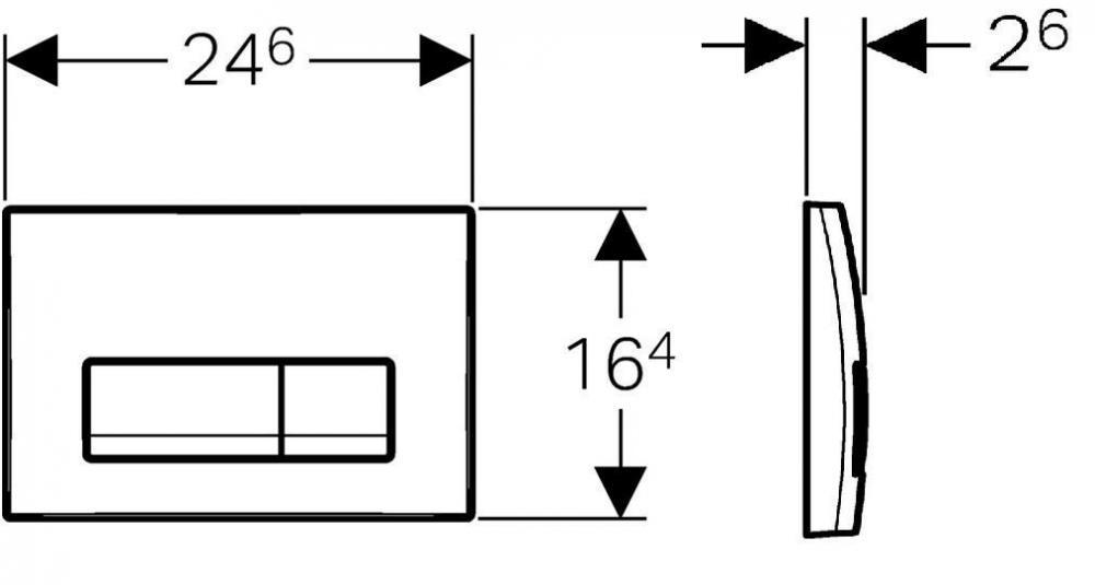 Комплект Geberit Duofix Платтенбау UP100 для подвесного унитаза, H112, с клавишей Delta 51 (белая)