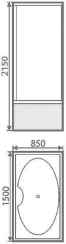 Golden Frog Душевая кабина SRGF-160 1500*850