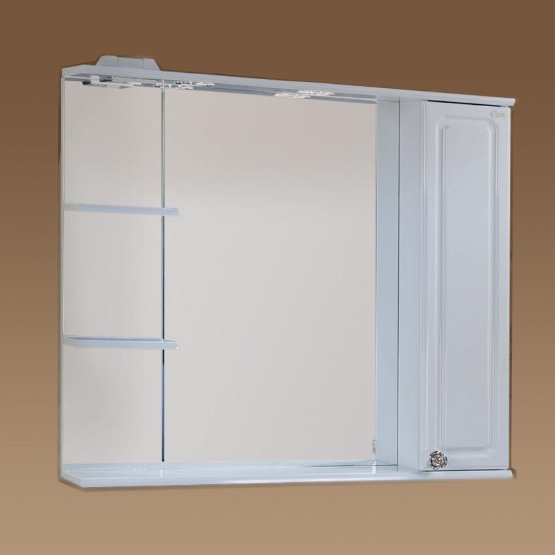 Шкаф-зеркало Александрия 90.02 правый 900х170х850