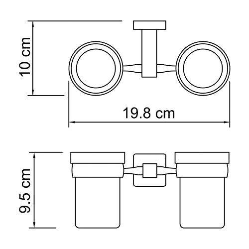 Lippe K-6528D Подстаканник двойной