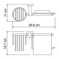 Lippe K-6559 Держатель туалетной бумаги и освежителя_2