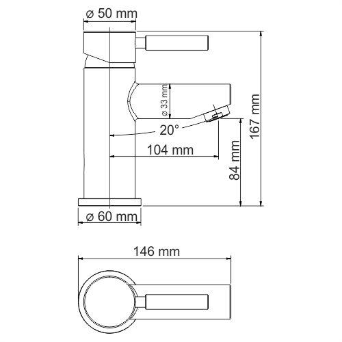 WasserKRAFT Main 4103Thermo Термостатическийический смеситель для умывальника