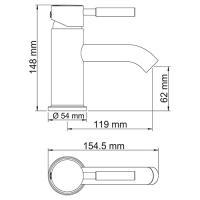 WasserKRAFT Main 4105 Смеситель для умывальника_2