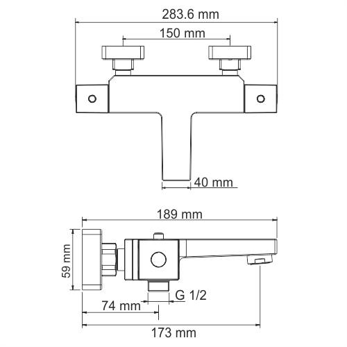 WasserKRAFT АIme 1511 Thermo Термостатическийический смеситель для ванны