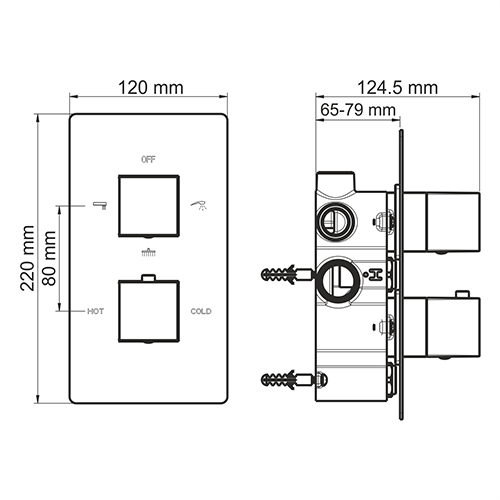 WasserKRAFT АIme 1544 Thermo Термостатическийический смеситель для ванны и душа