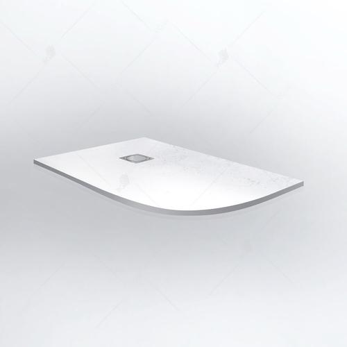 Душевой поддон ассиметричный RGW ST/AL-0129W левый, белый 90*120*2,5