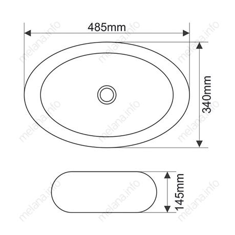 Раковина MELANA MLN-A252B