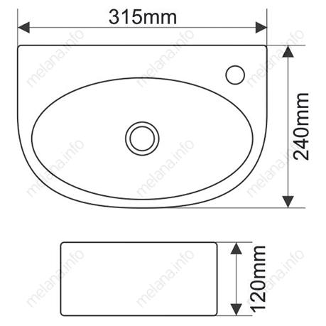 Раковина MELANA MLN-E601 (T41037)