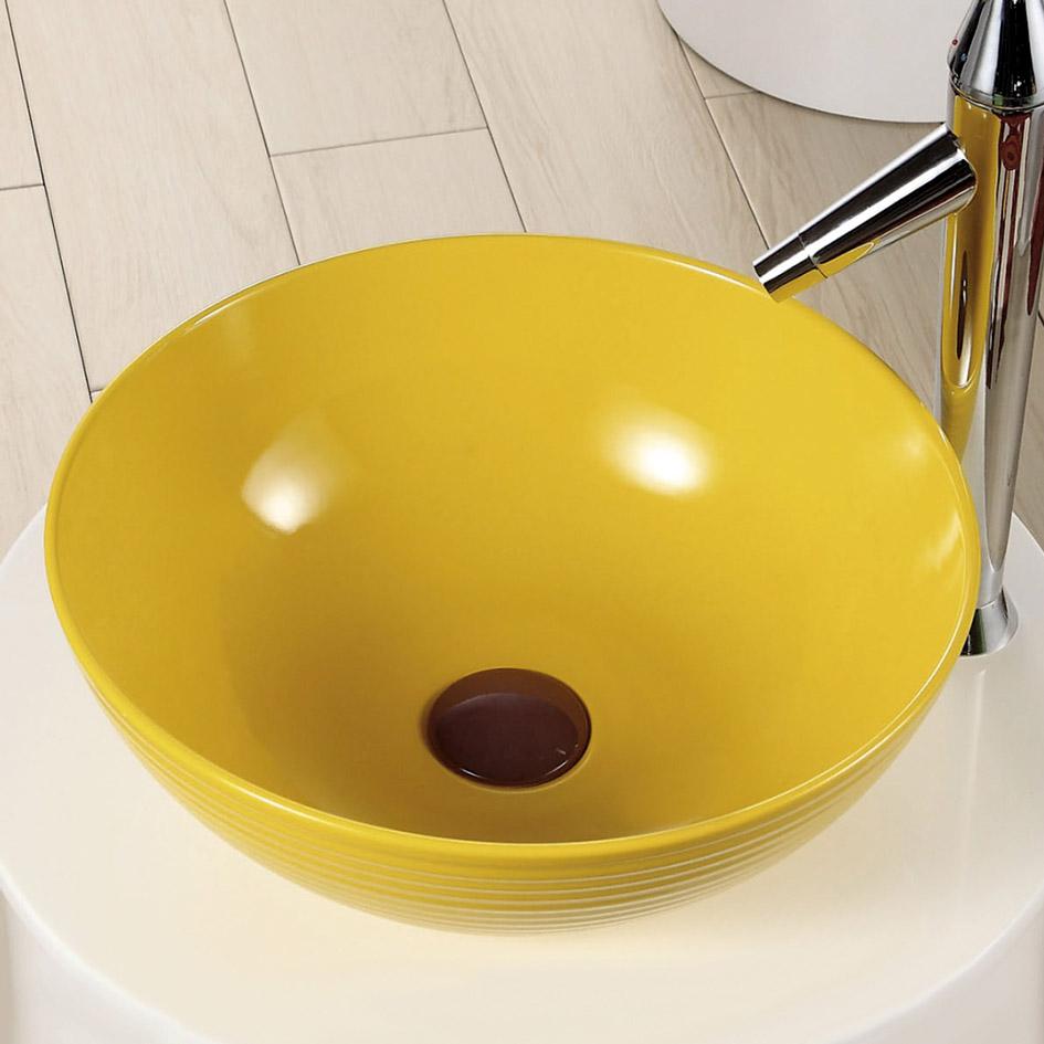 Раковина MELANA MLN-T4004-B6 (желтая)