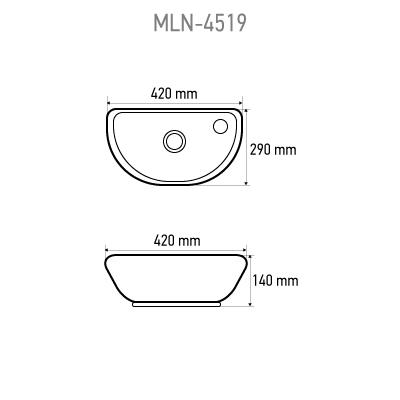 Раковина MELANA MLN-T4519 L