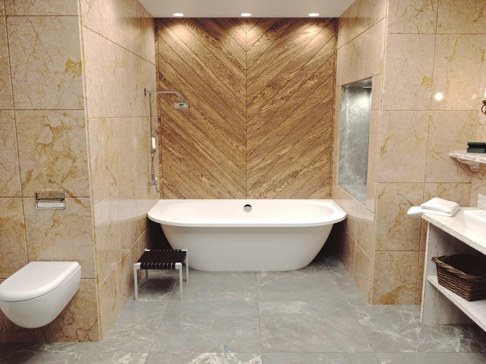 Мраморная ванна Esse PALAWAN 1900х900