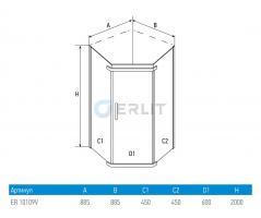 Душевой уголок ERLIT ER 10109V-C1 900*900мм_1