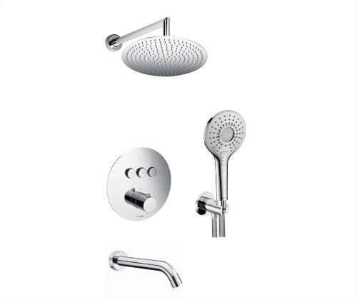 Встраиваемый комплект WasserKraft A175817 Thermo для ванны с верхней душевой насадкой, лейкой и изливом