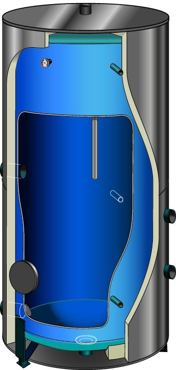 Электрический резервуар-водонагреватель Atlantic Corhydro 2000L