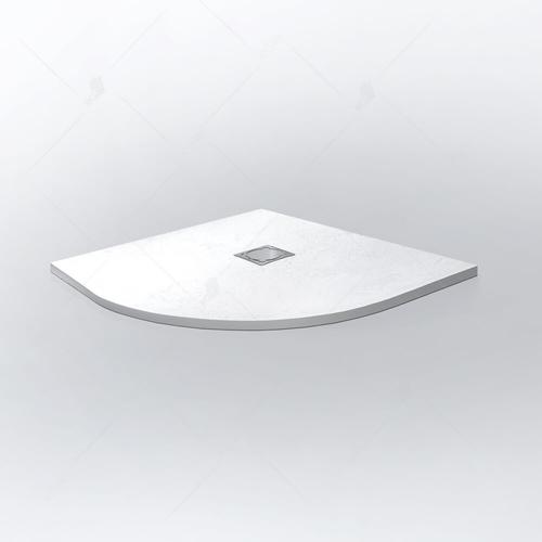 Душевой поддон полукруглый RGW ST/R-0100W белый 1000x1000x2.5